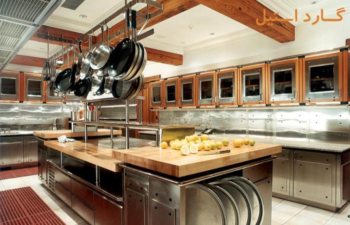 طراحی چیدمان آشپزخانه صنعتی